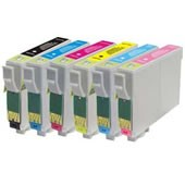 COMPATIBLE EPSON T487 Mutipack Ink Cartridges Chipped