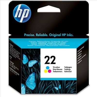 Hp 22 colour ink-original- swords-dublin-ireland