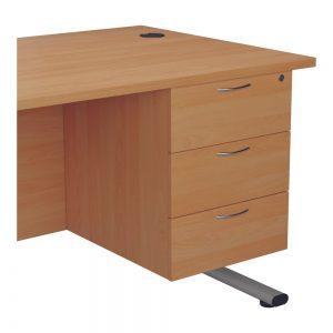 Jemini 3 Drawer Fixed Pedestal 400x655x495mm Beech KF74417 Office Plus #1 in Swords, Dublin, Ireland.