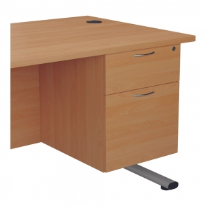 Jemini 2 Drawer Fixed Pedestal 404x655x495mmBeech Office Plus #1 in Swords, Dublin, Ireland.