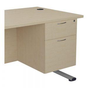 Jemini 2 Drawer Fixed Pedestal 404x655x495mmMaple KF74414 Office Plus #1 In Swords, Dublin, Ireland.