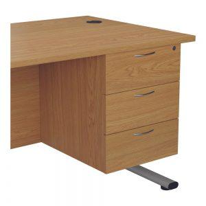 Jemini 3 Drawer Fixed Pedestal 400x655x495mm Nova Oak Office Plus #1 In Swords, Dublin, Ireland.