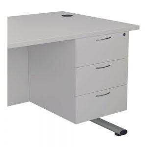 Jemini 3 Drawer Fixed Pedestal 400x655x495mm White Office Plus #1 in Swords, Dublin, Ireland.